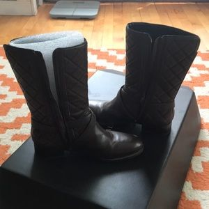Talbots 7.5 Brown Quilted Boots